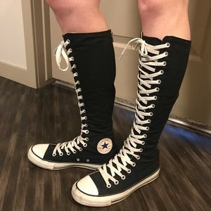Converse Shoes - Knee high All Star Converse - Black 76d3123ad